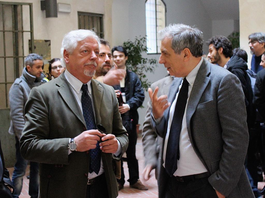 Andrea Jengo, RAI director, and our Director Alberto Del Bimbo at the opening