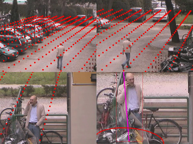 Localization and Mapping with a PTZ-Camera