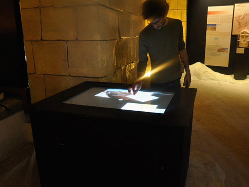 "Natural interface realized for the international exhibition ""From Petra to Shawbak"""