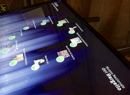 Mnemosyne Interactive Table at the Museum of Bargello