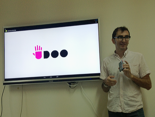 Maurizio Caporali presenting UDOO at MICC