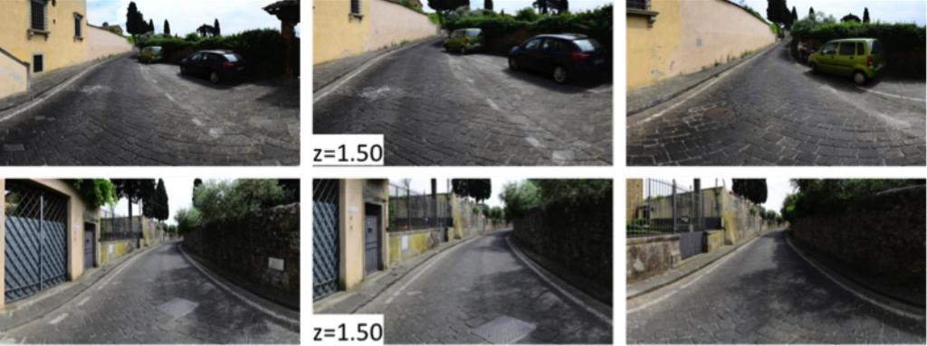 Sample navigation across different images