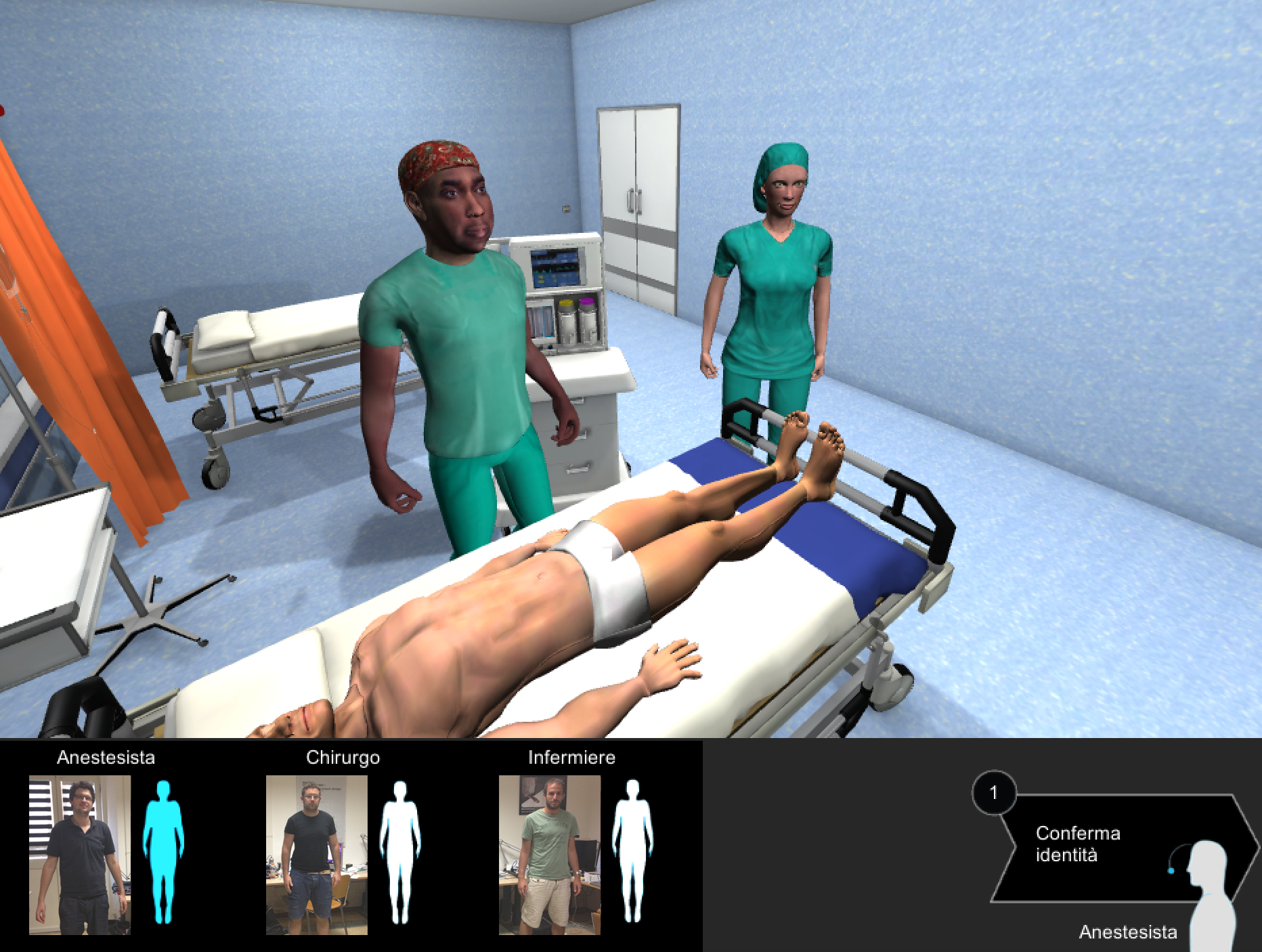 The medical team in the operating room