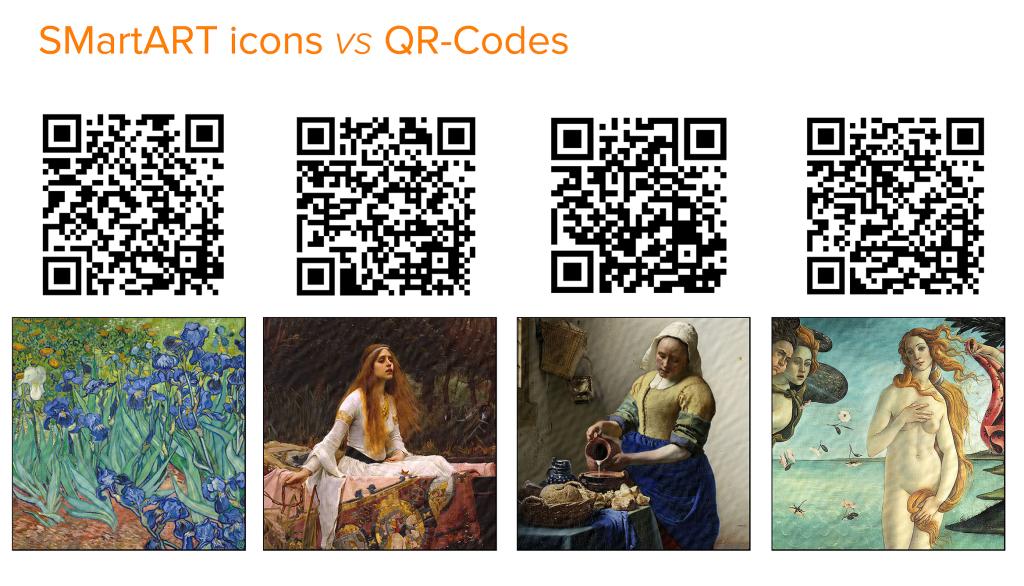 SmartArt Icons versus QrCodes in Museum